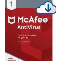 McAfee Antivirus Plus 1 User 1 Year
