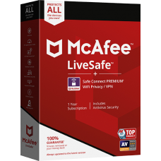 McAfee Live Safe 1 User 3 Year